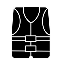 vest icon black sign on vector image
