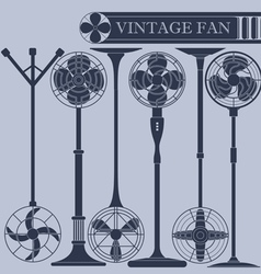 Vintage fan III vector image