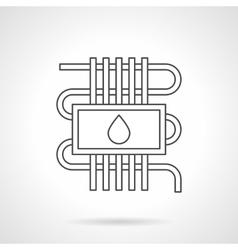 Water underfloor heating flat line icon vector
