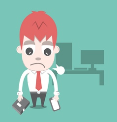 Work hard and overtime cartoon business vector image