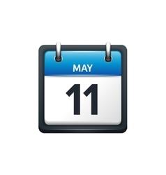 May 11 Calendar icon flat vector image