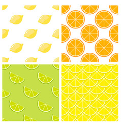 Citrus fruits bright seamless pattern vector