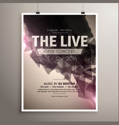 Elegrant live concert music flyer brochure vector