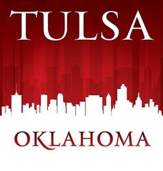 Tulsa Oklahoma city skyline silhouette vector image