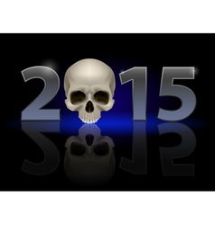 with skull vector image