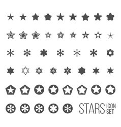 Set of star icons and pictograms vector