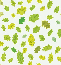 Oak leaves seamless pattern vector