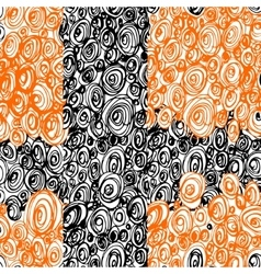 Hand drawn scribble circles seamless pattern vector