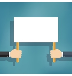 Hand holding blank protest board vector