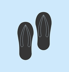 Pair of flip-flops vector