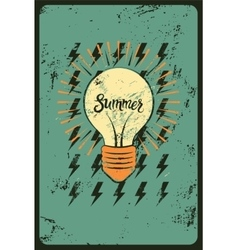 Typographic retro grunge summer poster vector
