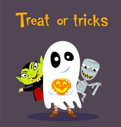 Halloween greeting card vector