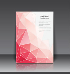 Abstact poster with triangles vector