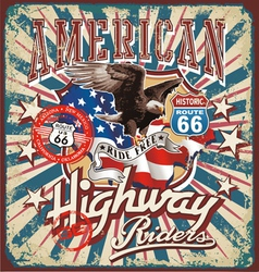 american rider vector image vector image
