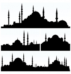 arabesque cityscapes vector image vector image