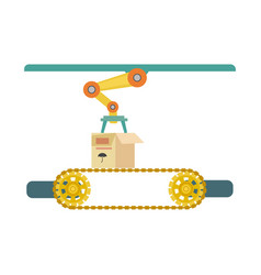 Automatic production line icon vector
