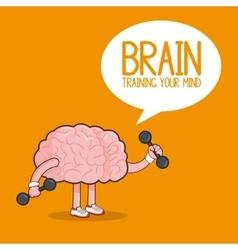 Brain design organ icon Flat vector image vector image