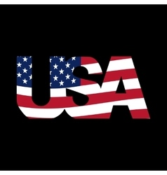 Caption united states on a black background usa vector