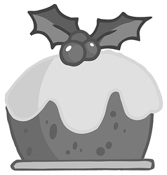Christmas pudding cartoon vector