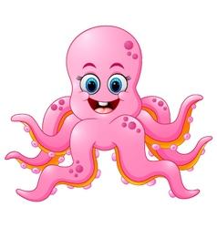 Cute octopus cartoon vector image vector image