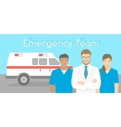 Doctor and nurses ambulance personnel vector