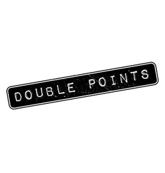 Double points rubber stamp vector