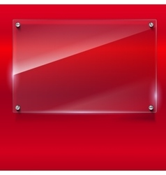 Elegant background with glass banner vector image