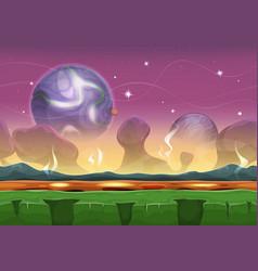 fantasy sci-fi alien landscape for ui game vector image