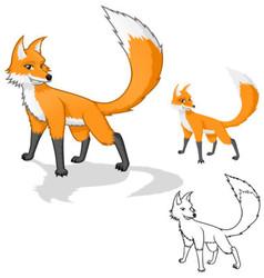 Fox Cartoon Character vector image
