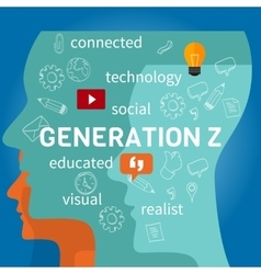 Generation z connected vector