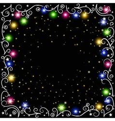 glowing Christmas garland vector image