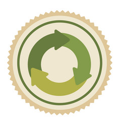 green emblem of cycle icon vector image