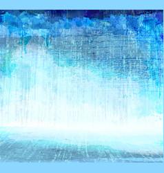 Grunge blue scratching interior artistic vector