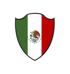 Isolated mexican badge vector