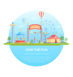 Join the fun - modern flat design style vector