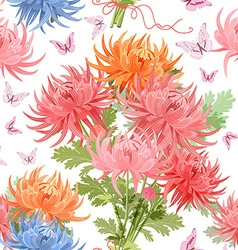 lovely seamless texture with bouquet of vector image vector image