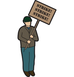 Man on strike vector image