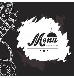 Menu icons design vector image