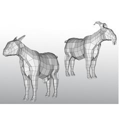 polygonal goats vector image vector image