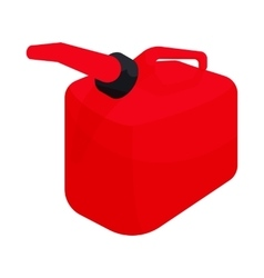 Red gas can icon cartoon style vector image vector image