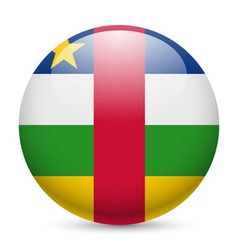 Round glossy icon of central african republic vector