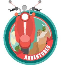 Scooter emblem vector image