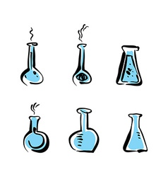 Set of beaker icons medical pictograms vector image vector image