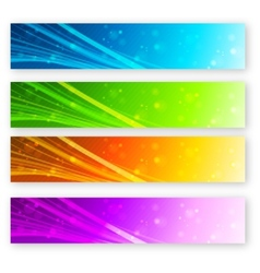 Set of color banner vector image