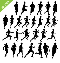 Silhouettes running vector image vector image