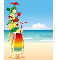Tropical cocktai vector