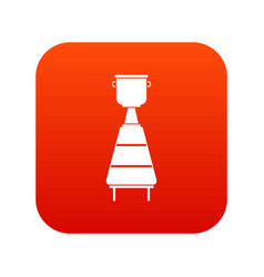 Wine distillery equipment icon digital red vector