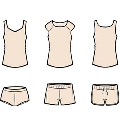 Womens underwear vector