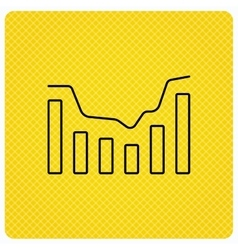 Dynamics icon statistic chart sign vector