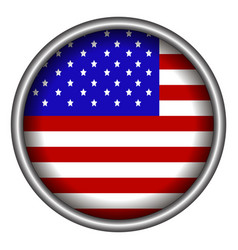 Isolated american badge vector